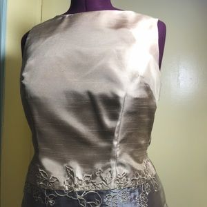 Elegant gold sleeveless top w matching FREE PANTS!